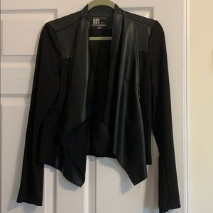 Kut from the Kloth, faux leather jacket/sweater.